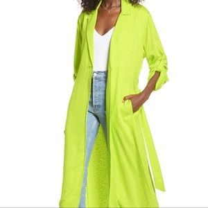 AFRM Rayon Duster Neon Hendrix  Size XS
